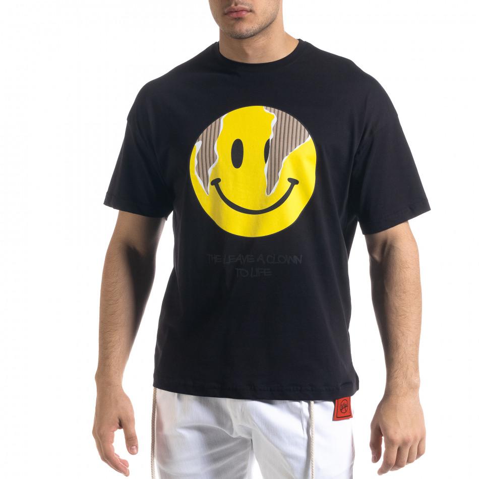 Ανδρική μαύρη κοντομάνικη μπλούζα SAW tr110320-5