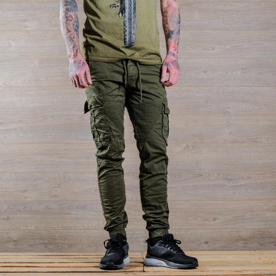 Ανδρικό πράσινο παντελόνι cargo Blackzi tr170320-3