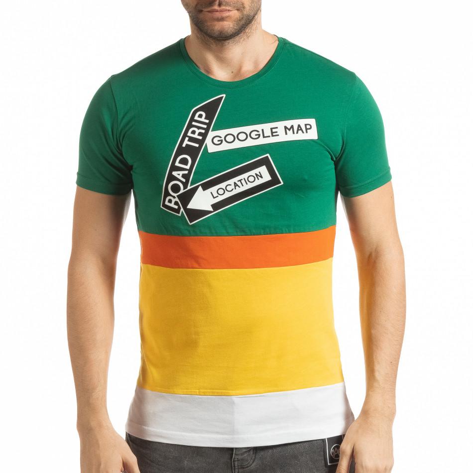 Ανδρική πολύχρωμη κοντομάνικη μπλούζα  tsf190219-40