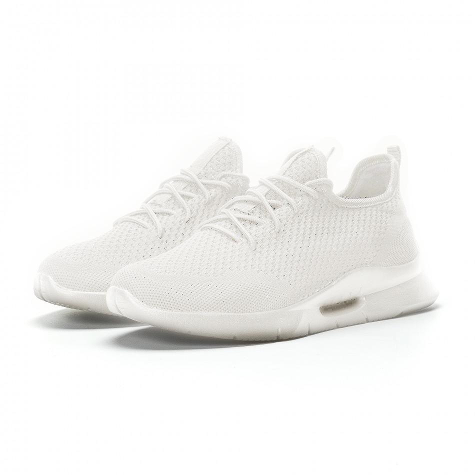 Ανδρικά λευκά αθλητικά παπούτσια Hole design ελαφρύ μοντέλο it160719-1