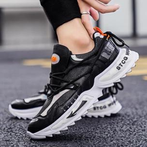 Chunky ανδρικά μαύρα sneakers  2