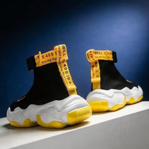 Ανδρικά μαύρα sneakers κάλτσα 2