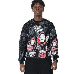 Ανδρική μαύρη μπλούζα Anonymous 2