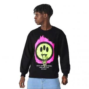 Ανδρική μαύρη μπλούζα Emoticon