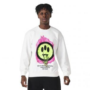 Ανδρική λευκή μπλούζα Emoticon
