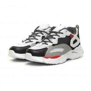 Ανδρικά Chunky αθλητικά παπούτσια σε άσπρο 2