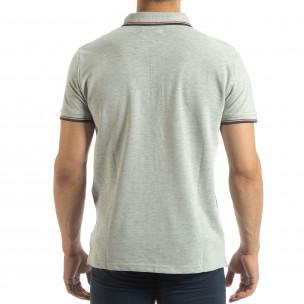 Ανδρική γκρι polo shirt   2