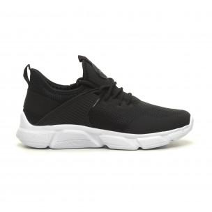 Ανδρικά μαύρα αθλητικά παπούτσια ελαφρύ μοντέλο κάλτσα Naban
