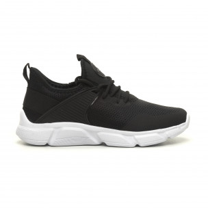 Ανδρικά μαύρα αθλητικά παπούτσια ελαφρύ μοντέλο κάλτσα