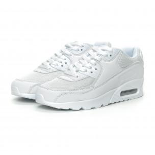 Γυναικεία λευκά αθλητικά παπούτσια με αερόσολα 2