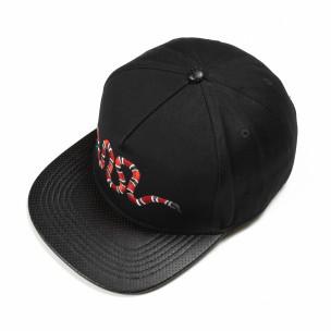 Μαύρο καπέλο με κεντήματα