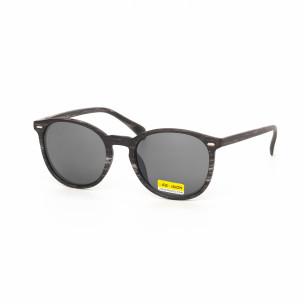 Ανδρικά μαύρα γυαλιά ηλίου ξύλινο μοτίβο
