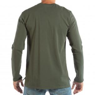 Ανδρική πράσινη βαμβακερή μπλούζα  2