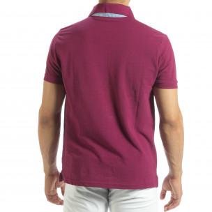 Ανδρική κόκκινη  polo shirt   2
