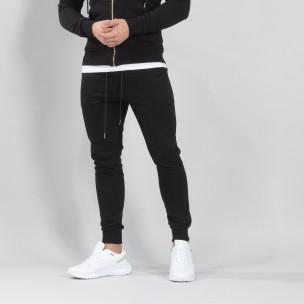 Ανδρική μαύρη βαμβακερή φόρμα Basic