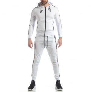 Ανδρικό λευκό αθλητικό σετ 5 striped 2