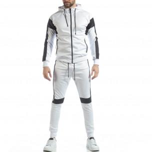 Ανδρικό αθλητικό σετ σε λευκό χρώμα 2