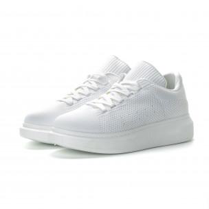 Ανδρικά λευκά sneakers Simius  2