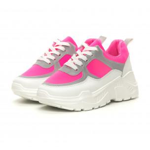 Γυναικεία Chunky ροζ αθλητικά παπούτσια Diamantique 2
