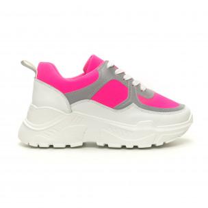 Γυναικεία Chunky ροζ αθλητικά παπούτσια Diamantique