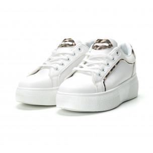 Γυναικεία λευκά sneakers Animal print 2