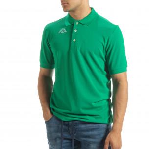 Ανδρική πράσινη polo shirt Kappa regular fit