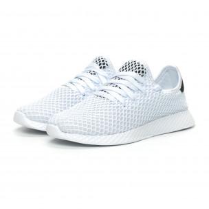 Γυναικεία λευκά sneakers Mesh ελαφρύ μοντέλο  2