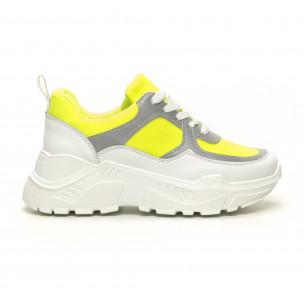 Γυναικεία Chunky πράσινα αθλητικά παπούτσια Diamantique