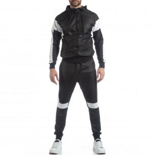 Ανδρικό αθλητικό σετ σε μαύρο χρώμα 2