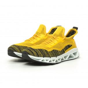 Ανδρικά αθλητικά παπούτσια Knife κίτρινα  2