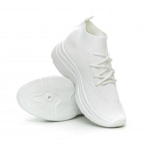 Γυναικεία λευκά αθλητικά παπούτσια κάλτσα Chunky 2