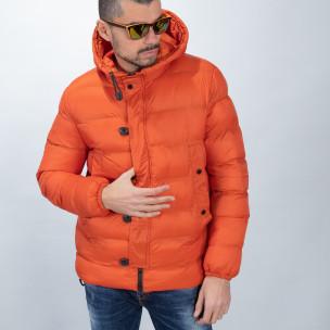 Ανδρικό πορτοκαλί χειμερινό μπουφάν