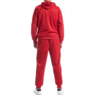 Ανδρικό κόκκινο αθλητικό σετ με λευκές ρίγες David Copper 2