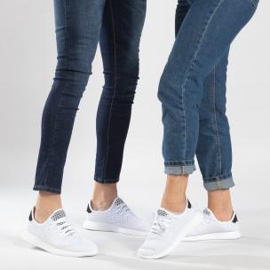 Λευκά sneakers για ζευγάρια Mesh ελαφρύ μοντέλο