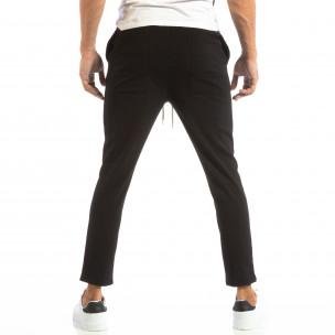 Ανδρικό μαύρο παντελόνι τύπου Jogger  2