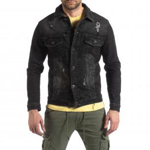 Ανδρικό μαύρο ανοιξιάτικο-φθινοπωρινό μπουφάν Justboy  2