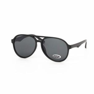 Ανδρικά μαύρα γυαλιά ηλίου πιλότου