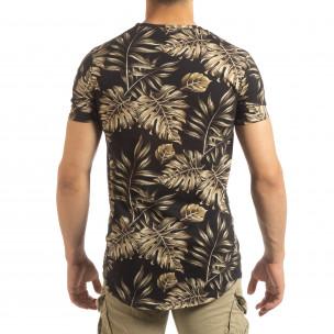 Ανδρική μαύρη κοντομάνικη μπλούζα Uniplay  2