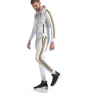 Ανδρικό λευκό αθλητικό σετ 5 striped