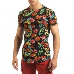 Ανδρική πολύχρωμη φλοράλ κοντομάνικη μπλούζα   2