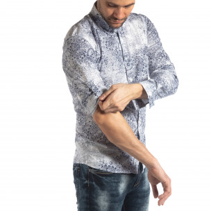 Ανδρικό λευκό Slimf fit πουκάμισο Vintage στυλ 2
