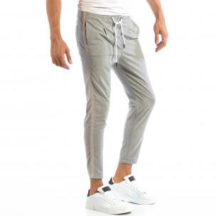 Ανδρικό γκρι ριγέ παντελόνι