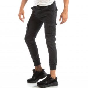 Ανδρικό γκρι παντελόνι cargo Jogger με τσέπες