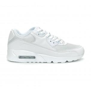 Γυναικεία λευκά αθλητικά παπούτσια με αερόσολα
