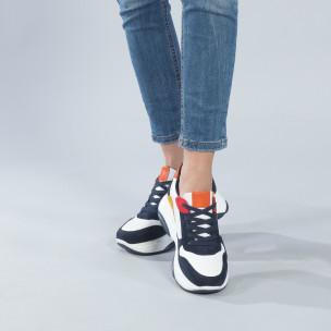 Γυναικεία πολύχρωμα sneakers με πλατφόρμα