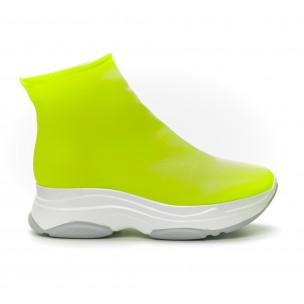 Γυναικεία πράσινα φωσφοριζέ αθλητικά παπούτσια Slip-on 2