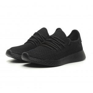 38e9595c407c ... Ανδρικά μαύρα αθλητικά παπούτσια Mesh Kiss GoGo 2