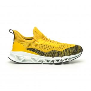 Ανδρικά αθλητικά παπούτσια Knife κίτρινα