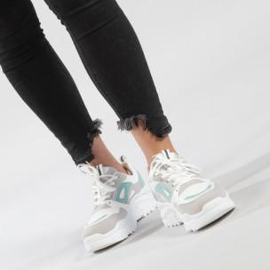 Γυναικεία πράσινα αθλητικά παπούτσια Chunky