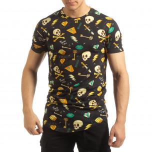 Ανδρική πολύχρωμη κοντομάνικη μπλούζα Skull